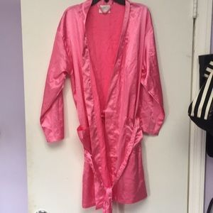 Pink satin like robe